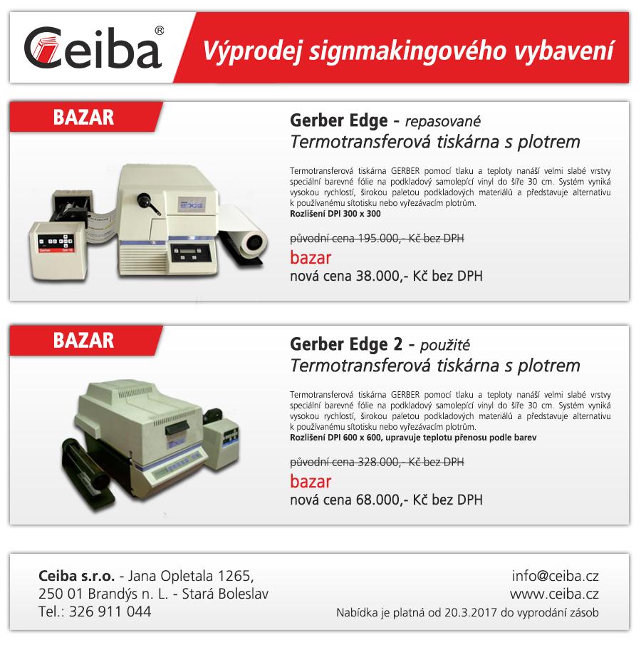 Gerber Edge - výprodej bazarových tiskáren   www folie ceiba cz